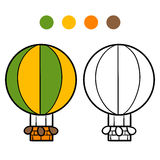 Coloring book for kids, Balloon. Coloring book for children, Balloon Stock Photo