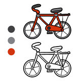 Coloring book for kids, Bicycle. Coloring book for children, Bicycle Royalty Free Stock Image