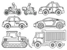 Coloring Book for Kids Cartoon Transport Stock Photo