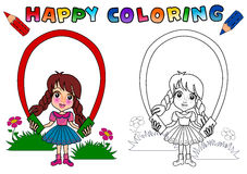 Coloring Book for kids vector illustration