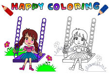 Coloring Book for kids isolated Stock Images