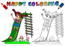 Coloring Book for kids isolated royalty free illustration