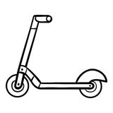 Coloring book for kids, Kick scooter. Coloring book for children, Kick scooter Royalty Free Stock Images