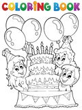 Coloring book kids party theme 2 Royalty Free Stock Photography