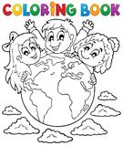 Coloring book kids theme 2 Royalty Free Stock Photo
