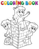 Coloring book kids theme 4 Stock Image