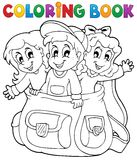 Coloring book kids theme 6 Stock Photo