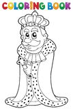 Coloring book king theme 1 Stock Image