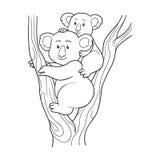 Coloring book (koala) Royalty Free Stock Image