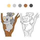 Coloring book (koala) Stock Photography