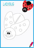 Coloring book ladybug stock images