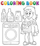 Coloring book laundry theme 1. Eps10 vector illustration Stock Image