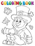 Coloring book leprechaun 3. Eps10 vector illustration Royalty Free Stock Photo