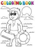 Coloring book life guard theme 1. Eps10 vector illustration Stock Photos