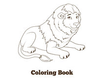 Coloring book lion african animal cartoon Stock Photo