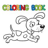 Coloring book of little dog or puppy Royalty Free Stock Photo