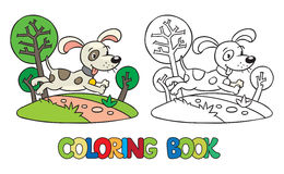 Coloring book of little dog or puppy Royalty Free Stock Photography