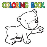 Coloring book of little funny bear Stock Images
