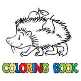 Coloring book of little funny hedgehog Stock Photo