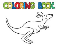 Coloring book of little funny kangaroo Royalty Free Stock Photo