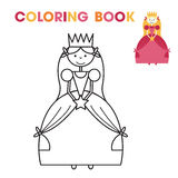 Coloring book for little girls - the Princess. Vector illustration Royalty Free Stock Images