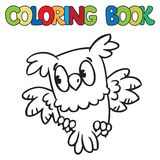 Coloring book of little owl Royalty Free Stock Image
