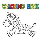 Coloring book of little zebra Stock Photo