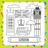 Coloring book - London Royalty Free Stock Photo