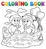Coloring book love theme image 1 Royalty Free Stock Images