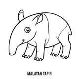 tapir coloring pages for kids - photo#7