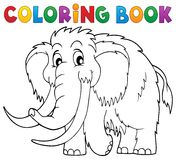 Coloring book mammoth theme 1 Stock Photo