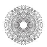 Coloring Book Mandala. Circle lace ornament, round ornamental mandala pattern, black and white design. vector for Stock Image