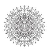 Coloring Book Mandala. Circle lace ornament, round ornamental mandala pattern, black and white design. vector for Royalty Free Stock Image