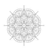 Coloring Book Mandala. Circle lace ornament Stock Images