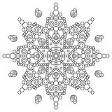 Coloring book with mandala Stock Photo