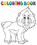 Coloring book mandrill theme 1 royalty free illustration