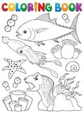 Coloring book marine life theme 1 Royalty Free Stock Photo
