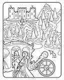 Coloring Book Maze Royal Castle Royalty Free Stock Photography