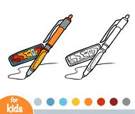 Coloring Book, Mechanical Pencil With Leads Royalty Free Stock Images