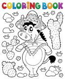 Coloring book Mexican donkey 1. Eps10 vector illustration royalty free illustration