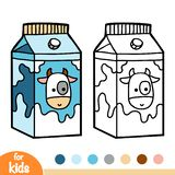 Coloring book, Milk box royalty free illustration