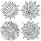 Kaleidoscope coloring for children and adults Royalty Free Stock Photography
