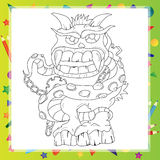 Coloring book - Monster Stock Image