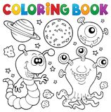 Coloring book monster theme 2 royalty free illustration