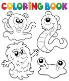Coloring book monster theme 3. Eps10 vector illustration Royalty Free Stock Photography