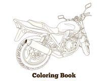Coloring book motorbike vector illustration Stock Photos