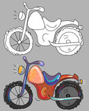 Coloring book with motorcycle Royalty Free Stock Images
