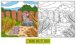 Coloring book (mouse) Royalty Free Stock Photography