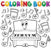 Coloring book music theme image 1 Royalty Free Stock Images