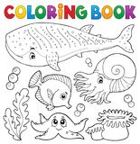 Coloring book ocean life theme 1 Royalty Free Stock Photography